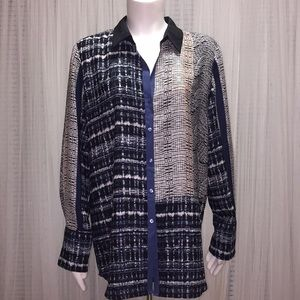 NIC+ZOE Long Sleeve Blouse Size L